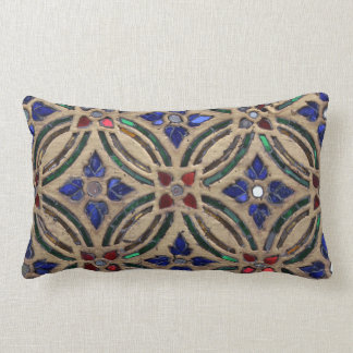 Mosaic tile pattern stone glass Moroccan photo Lumbar Pillow