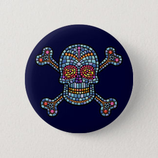 Mosaic Tile Pirate 2 Inch Round Button