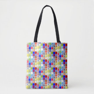 Mosaic Tile Tote | 2 Sided | Faux Texture