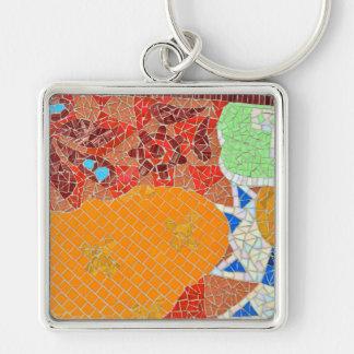 mosaic tiles faience broken pieces hone puzzle col keychain