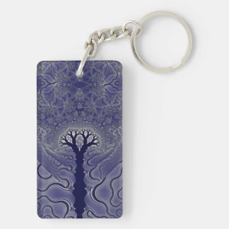 Mosaic Trees Double-Sided Rectangular Acrylic Keychain