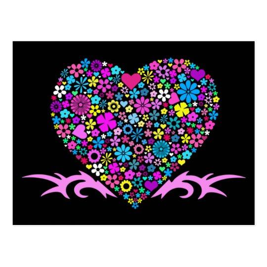 Mosaic Tribal Valentine's Postcard