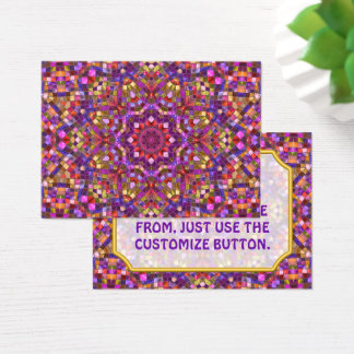 Mosaic Vintage Kaleidoscope Pattern  Business Card