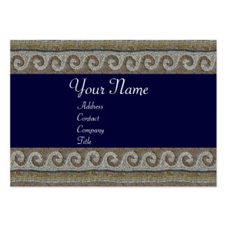 MOSAIC WAVES , light grey brown blue Large Business Card
