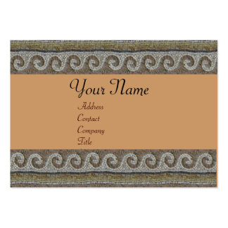 MOSAIC WAVES , light grey brown Large Business Card
