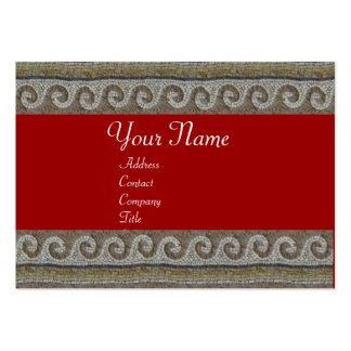 MOSAIC WAVES , light grey brown red Large Business Card