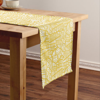 Mosaic yellow medium table runner