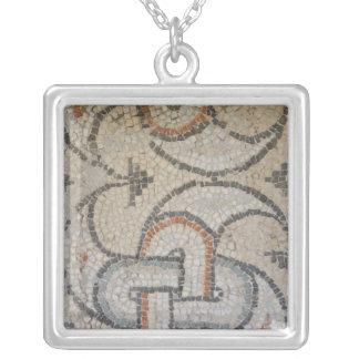 Mosaics of Meydankapi, circa 4th century A.D. Silver Plated Necklace