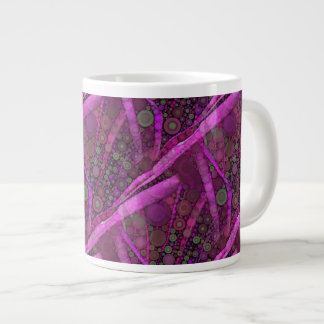 Mosaïque abstraite assez pourpre de cercles concen mug jumbo