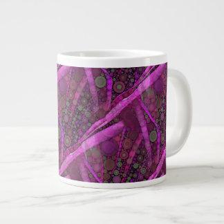Mosaïque abstraite assez pourpre de cercles mug jumbo