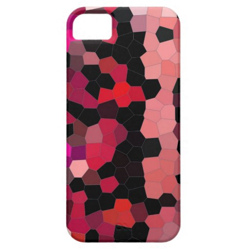 mosaïque de noir de rose de cas d'iphone4- coque iPhone 5 Case-Mate
