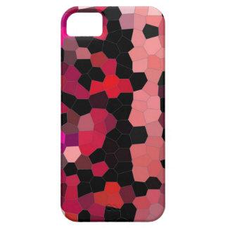 mosaïque de noir de rose de cas d'iphone4- coque iPhone 5