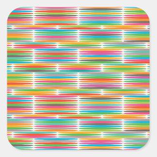 Mosaïque multicolore abstraite d'arc-en-ciel d'art autocollants carrés