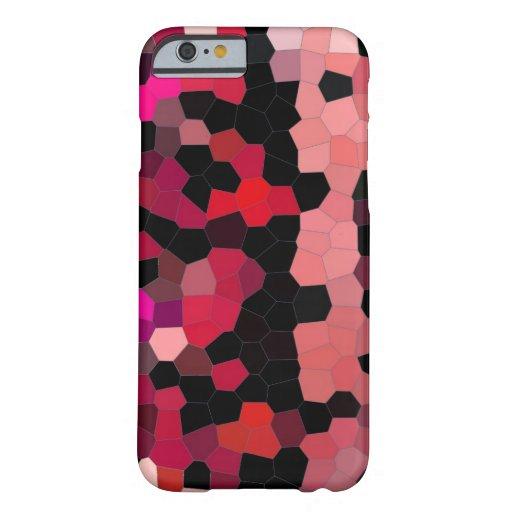 mosaïque noire rose de cas de l'iPhone 6 Coque iPhone 6 Barely There