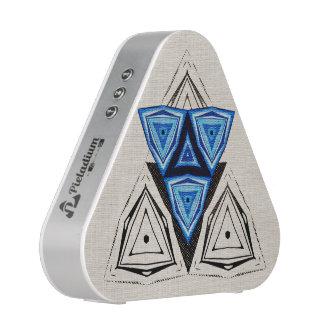 Mosaïque triangulaire bleue haut-parleur bluetooth