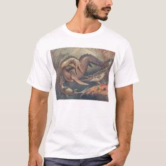 Mosasaur and Ichthyosaurs (Heinrich Harder) T-Shirt