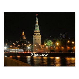 Moscow at Night Postcard