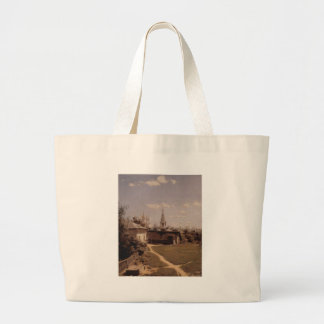 Moscow court by Vasily Polenov Large Tote Bag