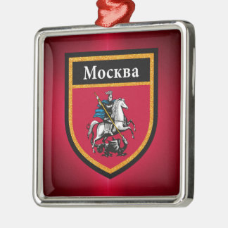 Moscow Flag Metal Ornament
