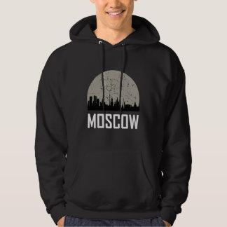 Moscow Full Moon Skyline Hoodie