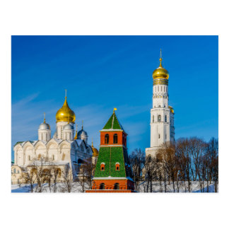 Moscow Kremlin cathedrals Postcard