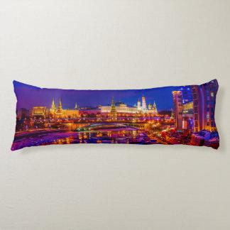 Moscow Kremlin In Winter Night Body Pillow