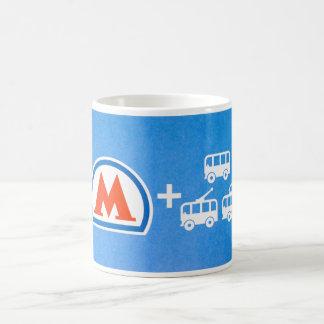 Moscow metro pass coffee mug