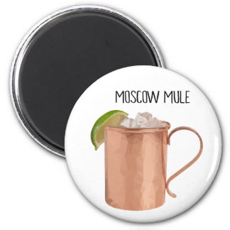 Moscow Mule Copper Mug Low Poly Geometric Design Magnet