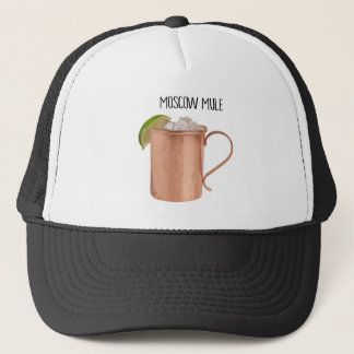 Moscow Mule Copper Mug Low Poly Geometric Design Trucker Hat
