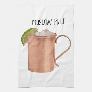 Moscow Mule Kitchen Towel Geometric Low Poly Art