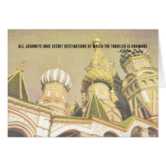 MOSCOW NIGHTS 5x7 Greeting Card