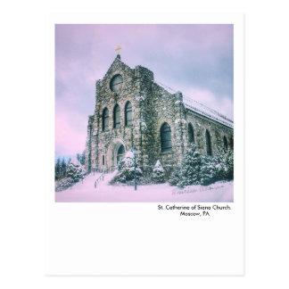 Moscow, PA postcard-St. Catherine of Siena Church Postcard