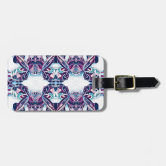Moscow Painting Blue / Purple Luggage Tag