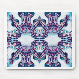 Moscow Painting Blue / Purple Mouse Pad