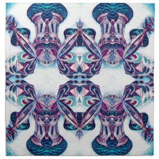 Moscow Painting Blue / Purple Napkin
