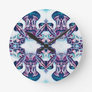 Moscow Painting Blue / Purple Round Clock