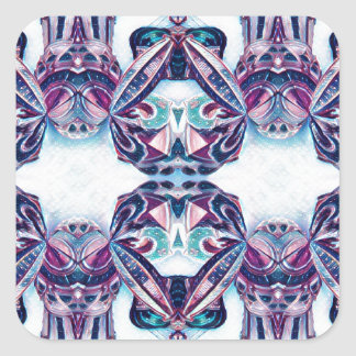 Moscow Painting Blue / Purple Square Sticker