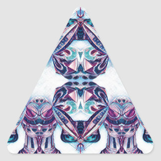 Moscow Painting Blue / Purple Triangle Sticker