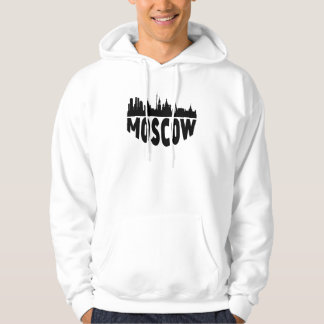 Moscow Russia Cityscape Skyline Hoodie