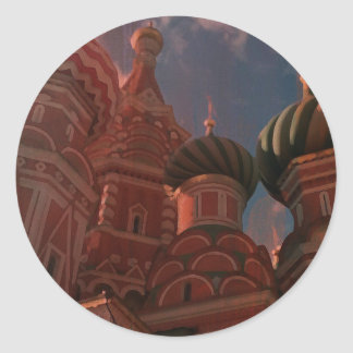 Moscow_russia Classic Round Sticker