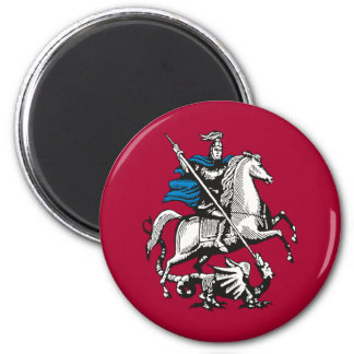 Moscow, Russia flag Magnet