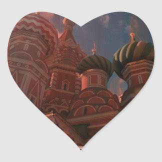 Moscow_russia Heart Sticker