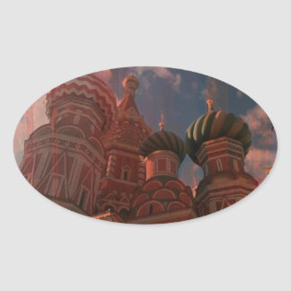 Moscow_russia Oval Sticker