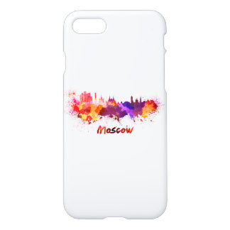 Moscow skyline in watercolor iPhone 8/7 case