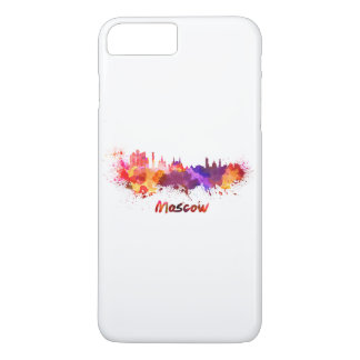 Moscow skyline in watercolor iPhone 8 plus/7 plus case