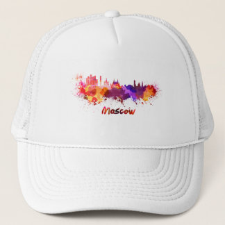 Moscow skyline in watercolor trucker hat