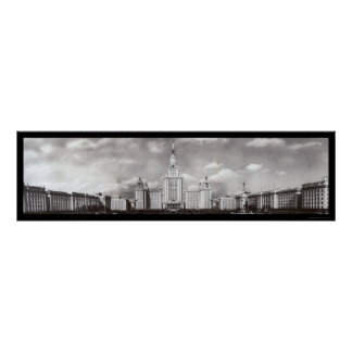 Moscow State University Russia Photo 1955 Poster