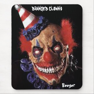 Mose Pad - Scary Birthday Clown (dranged clowns) Mouse Pad