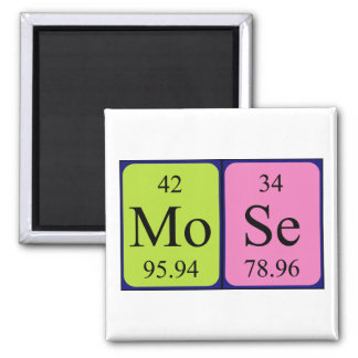 Mose periodic table name magnet