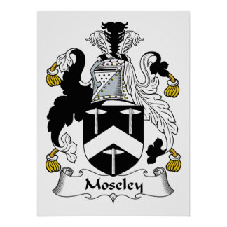 Moseley Family Crest Poster